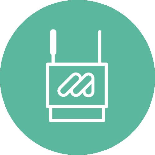Ein Icon mit einem stilisierten Heizkörper