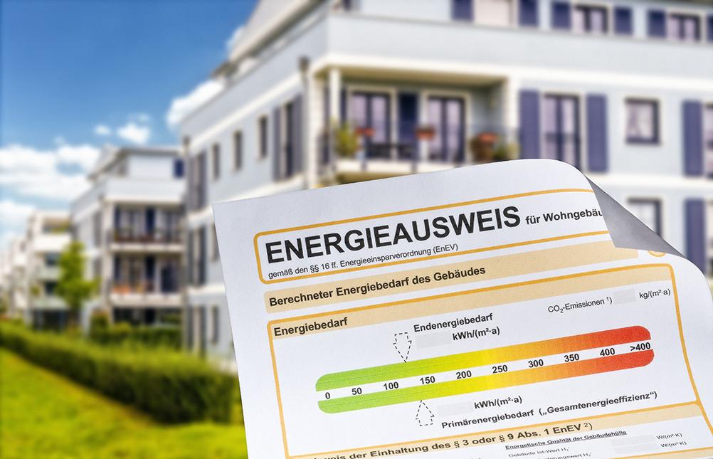 Der Energieausweis gibt Auskunft über den Energiebedarf eines Wohngebäudes