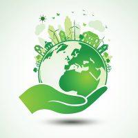 Planet schützen, nachhaltige Stadt   Symbolbild